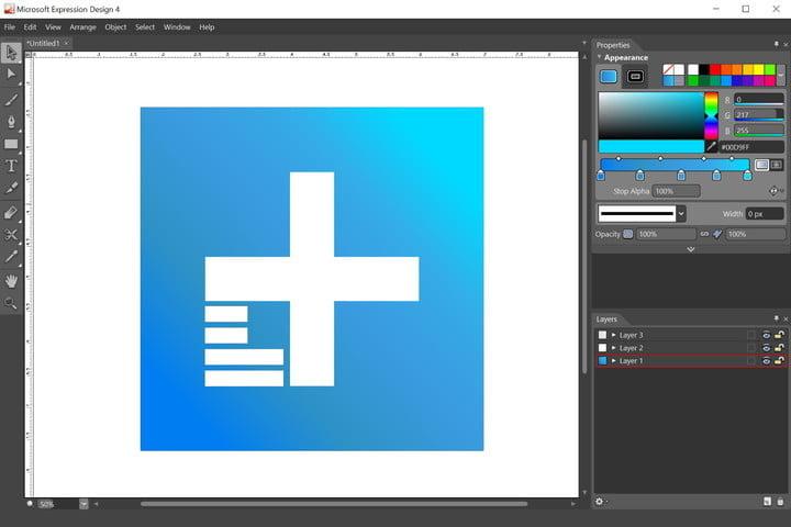 نرم افزار Microsoft Expression Design 4