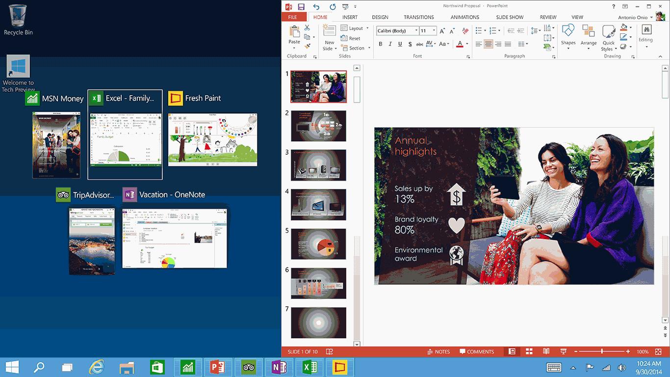 نصف کردن صفحه نمایش در ویندوز 10